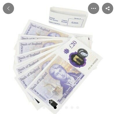 NEW £20 Note UK pounds Replica For Events CHECK DESCRIPTION ON MORE INFO !!!