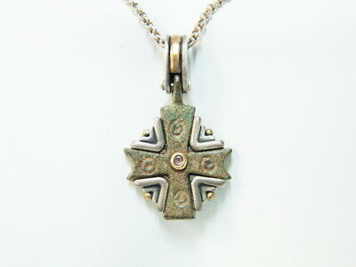 Authentic Byzantine Cross Pendant Circa 300-600AD With Cert Of Authenticity