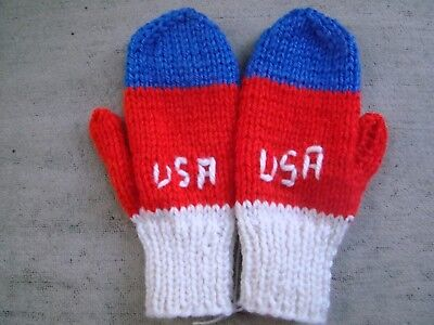 Hand knitted mittens Childrens size small