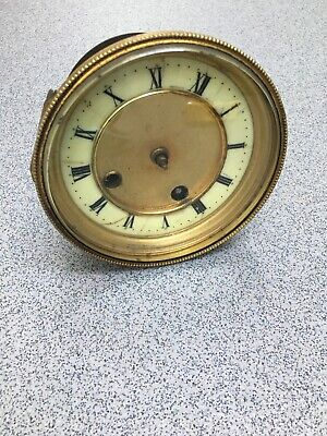 Antique Clock Movement Bevelled Glass Dial Centre Plate Repairs (M)