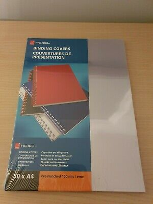 Rexel Binding Covers Packs (clear) 50 x A4 CHEAPEST