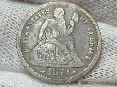 1873 silver Seated Liberty Dime