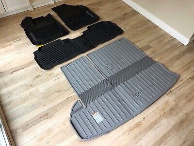 (2014 - 2019 TOYOTA HIGHLANDER) OEM ALL WEATHER FLOOR MATS with Cargo Deck Liner