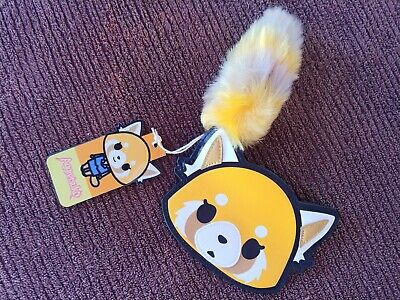 BRAND NEW Loungefly Aggretsuko Face Purse w/ Fluffy Tail Zipper!