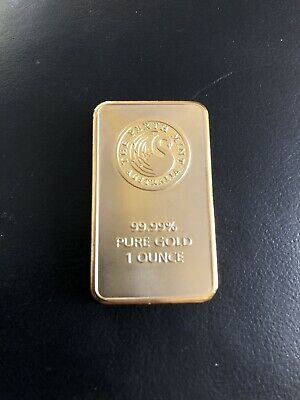 House Clearance Find Perth Mint 1 Ounce Gold Bar.