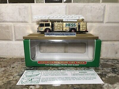CUSTOM 1999 Mini Hess Firetruck-Gold Painted MUST SEE-ONLY ONE