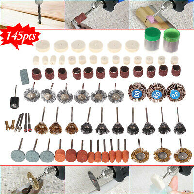 145Pcs Rotary Tool Electric Grinder Accessory Bit Set Polishing Sanding Grinding
