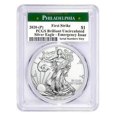 2020 (P) 1 oz Silver American Eagle PCGS BU FS (Philadelphia) Emergency Issue
