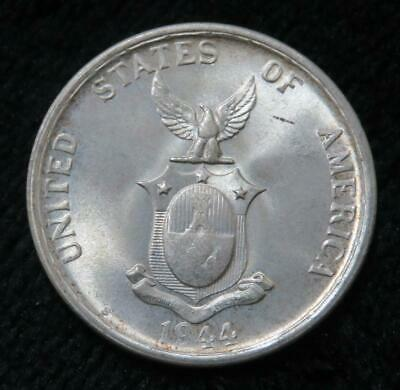 1944 50 Centavos * 75% Silver * Better Grade * Phillippines * Beautiful Coin