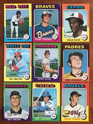 1975 TOPPS BASEBALL Pick your own Commons (4/$1) and Stars