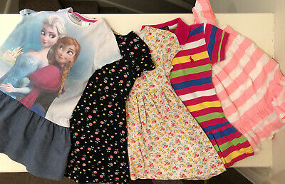 Pack Of 5 Girls Dresses From Next and F&F Inc Disney Frozen Age 3-4 Yrs Exc Cond