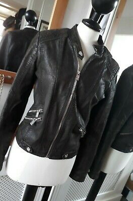 Cars Jeans Designer Faux Leather Biker Style Jacket Age 14
