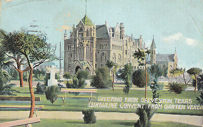 Postcard - Greeting from Galveston, Texas, Ursuline Convent