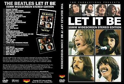 The Beatles. Let It Be 35 Mm Stereo Edition. Dvd.