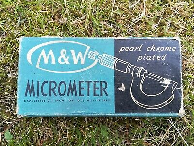 Moore and Wright 0-1 Inch Micrometer used no case or tools.