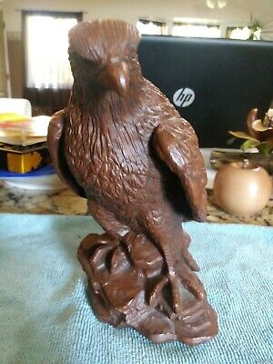 Beautiful Hand Carved Wooden Eagle