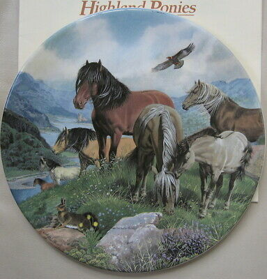 Britain's Wild Ponies Collectible Plates - Highland