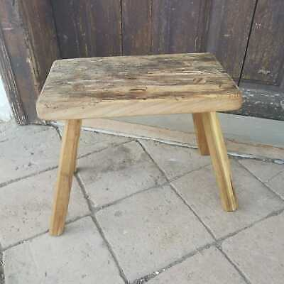 Primitive Hand Made Rustic Milking Stools or Bedside Table Vintage Farmhouse
