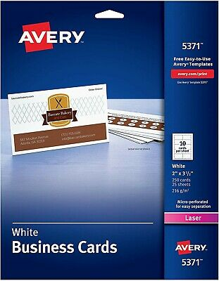 Business cards, White