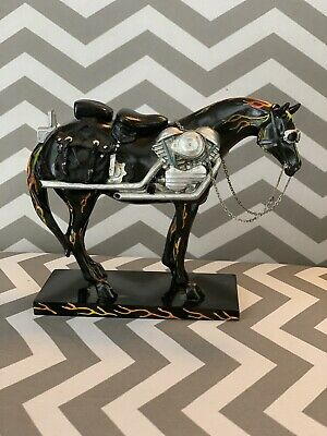 The Painted Ponies Collectibles, RETIRED Motorcycle Mustang #1450