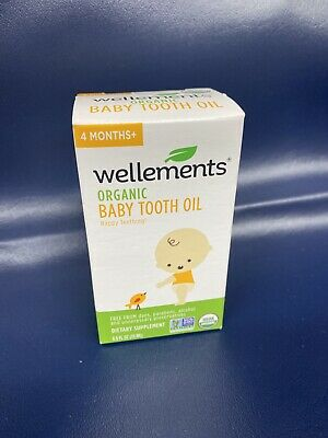 Wellements Organic Baby Tooth Oil Happy Teething  EXP 01/21