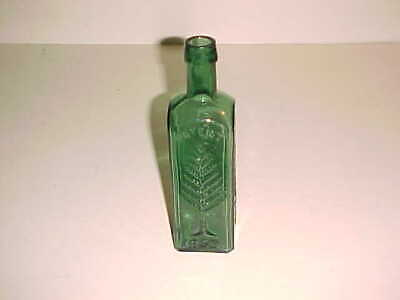 Deep Emerald Green  -  Wishart's Pine Tree L Q C  Bottle  -  1859   Philadelphia