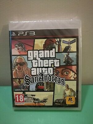 Gta Grand Theft Auto San Andreas Pal Nuovo/New Sony Playstation 3 Ps3