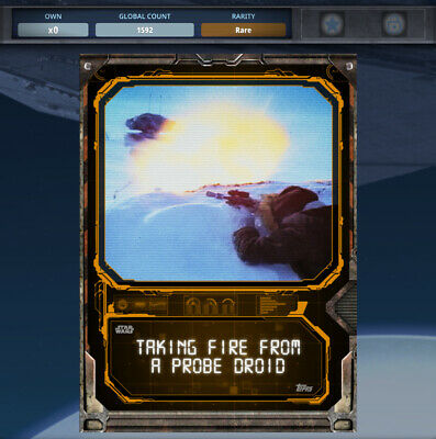 Topps Star Wars Card Trader - Transmission Motion TAKING FIRE FROM A PROBE DROID
