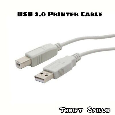 15ft USB 2.0 Extension /& 10ft A Male//B Male Cable for Epson Stylus NX415 All-in-One Printer