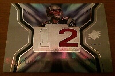 Tom Brady Jersey Card New England Patriots Football Upper Deck TCG CCG