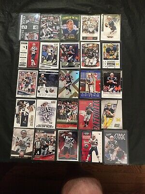 Tom Brady Lot (25) With Inserts, New England Patriots