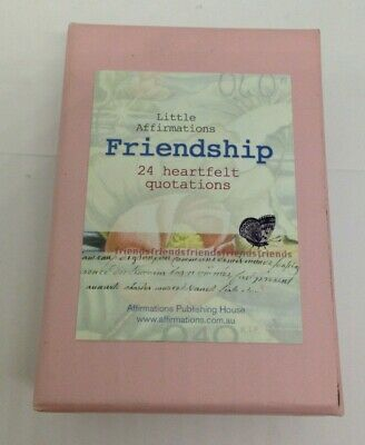 Friendship little affirmations cards on timber stand small boxed friend gift