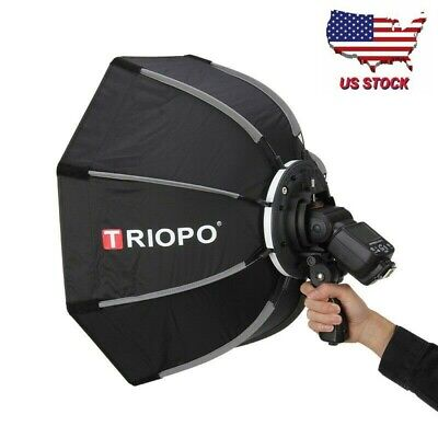 TRIOPO 65cm Octagon Softbox Handheld Foldable Softbox for Speedlite Flash Light