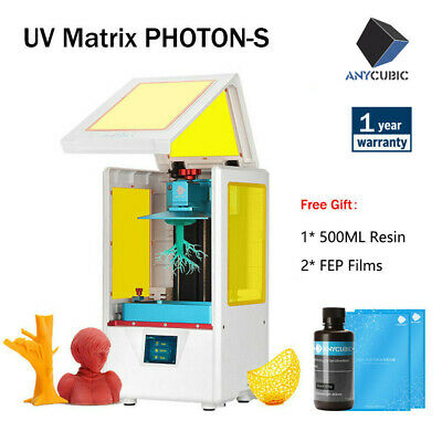 UK ANYCUBIC SLA Photon S LCD 3D Printer UV Resin Light-Curing Dual Z-axis