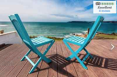 7 nights (week) Holiday 11th July 2 bedroom Devon sea view 5* reviews stunning