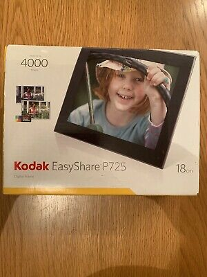Kodak EasyShare P725 Digital Photo Frame 18cm Black - Brand New In Box