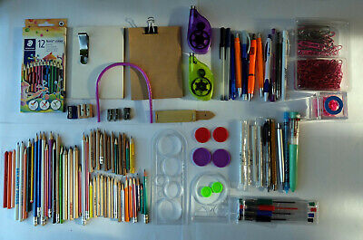 Drawing supplies job lot - spirograph pens eraser sharpener pencil sketchbook
