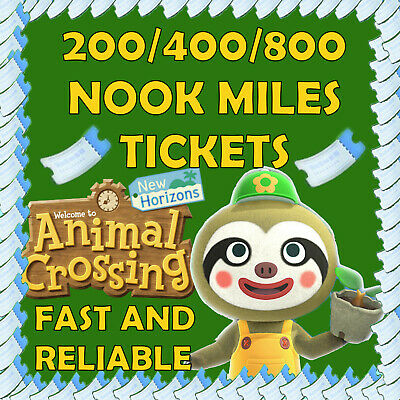Nook Miles Tickets Animal Crossing New Horizons