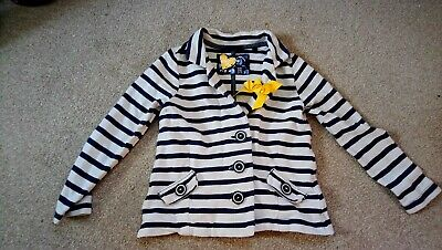 NEXT Girl's Blue striped jacket - french / nautical style age 4