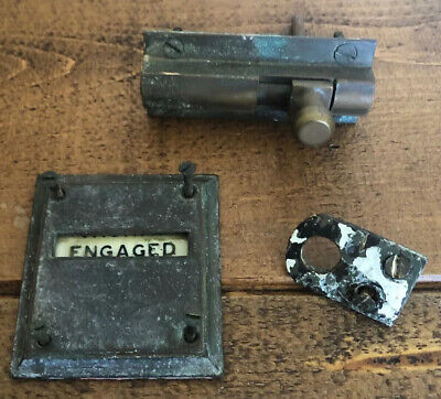 Antique/Vintage Real Solid Brass Vacant/Engaged Door Lock Gibbons Wolverhampton