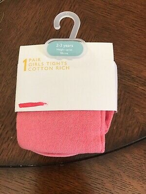 John Lewis Tights Aged 2-3 Years Pink New Girls