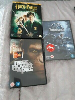 Dvd bundle Harry Potter chamber of secrets Jurassic world and planet of the apes