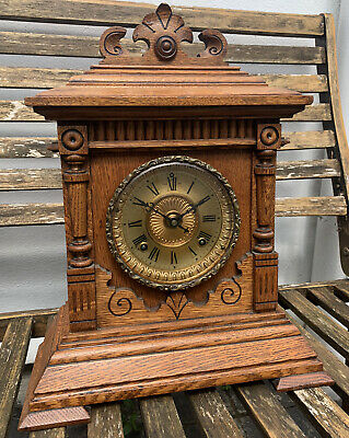 Antique Ansonia Clock Company 8 Day Striking Sharon Mantel Clock