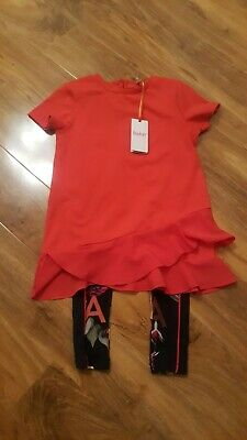 BNWT BAKER BY Ted Baker Girls Top And Leggings Set 8-9 Years