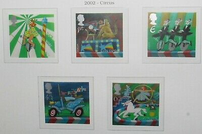 Royal Mail Mint Stamps, Circus, 2002. Unmounted