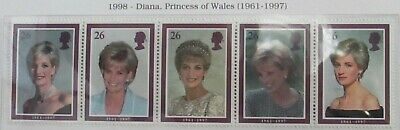 Royal Mail Mint Stamps, Diana Princess of Wales. Unmounted