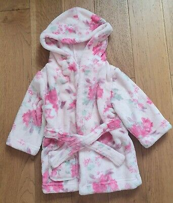 Pink floral baby dressing gown 12-18 Months