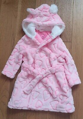 Pink heart design dressing Grown 18-24 months *NEW WITHOUT TAGS*