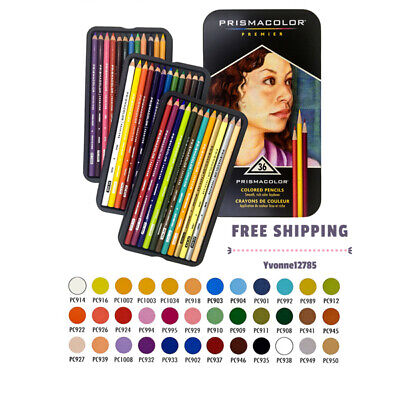 Prismacolor Premier Colored Pencils Set of 36 Assorted Soft Core Color Pencils