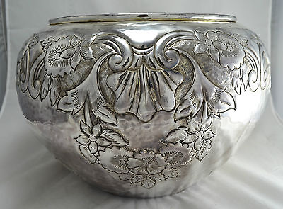 N 4853 Sof Sublime Cachepot Porta Vaso Grande In Argento Sheffield Collection